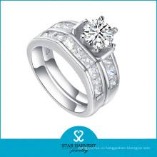 Кольцо обручального кольца ювелирных изделий стерлингового серебра оптовой продажи 925 (R-0132)