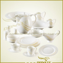 Alta qualidade manchada amarela Western Tableware