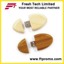 Presente personalizado Mini Bambu e madeira USB Flash Drive (D824)
