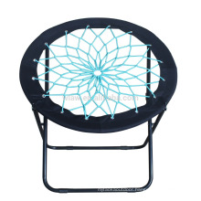 Round foldable bungee chair
