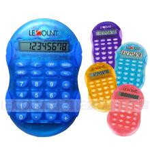 Calculadora portátil de 8 dígitos de tamaño pequeño con colores transparentes opcionales (LC555A)