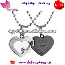 fashion jewerly two heart shape lover pendant