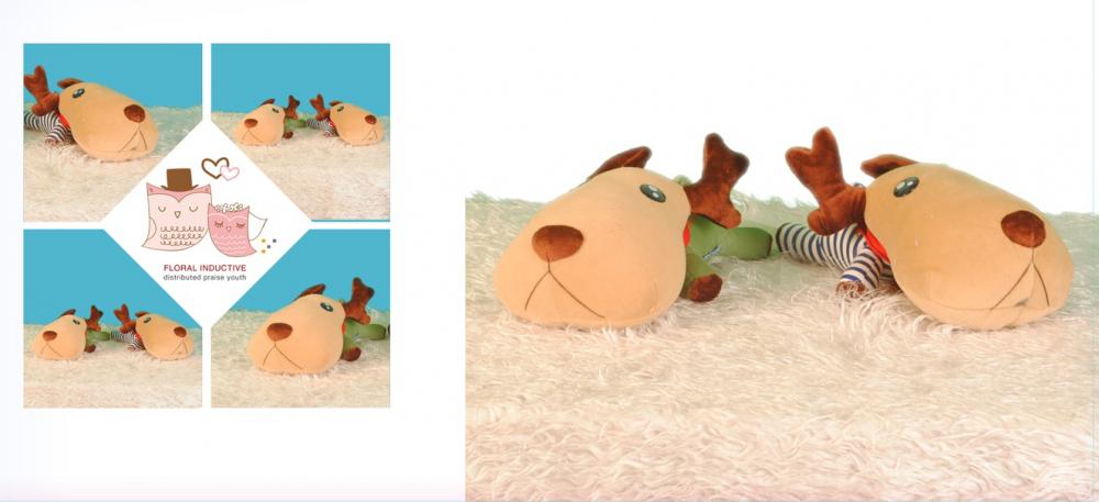 Dog plush toy sleeping pillow