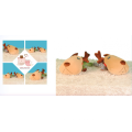 Brinquedo de pelúcia cachorro dormindo travesseiro