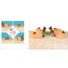 Oreiller de couchage chien peluche