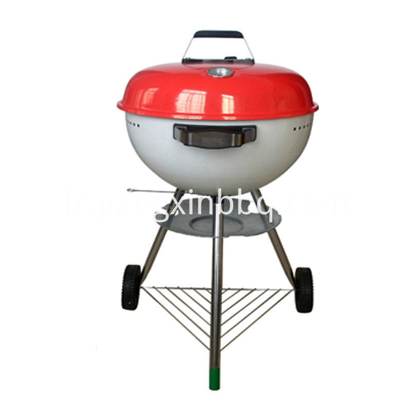 18 Kettle Charcoal Grill Red Lid View