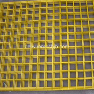 Gelbe Farbe PVC beschichtete geschweißte Maschendraht-Platten China ...