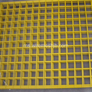 Warna Kuning PVC Bersalut Welded Wire Mesh Panels