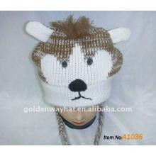Sombrero equipado para el sombrero del invierno que usa y es sombrero hecho punto