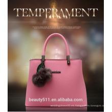 2017 nuevos colores del resorte del diseño empaquetan los bolsos hermosos HB02 de las señoras del bolso del totalizador del cuero genuino de las mujeres