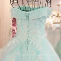 Graceful Off The Shoulder Organza Evening Dresses 2016 Frete Grátis Lace Applique Beaded Robe Longue Femme Soiree ML188