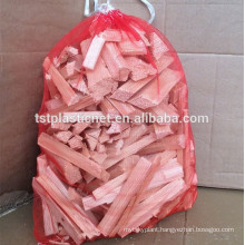 38x50cm & 32x50cm raschel /mono Drawstring PE Mesh/Net bags for use of holding Firewood