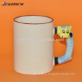 Сублимационная животная белая кружка для рекламы и подарка pomotion с конкурентоспособной ценой