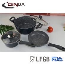 Juegos de utensilios de cocina forjados de aluminio 5pcs