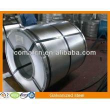 Caliente sumergido galvanizado Aluzinc bobina de acero AZ 80g/m2, acero del Galvalume, planta China