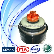Горячая цена продажи Высокое напряжение 500kV Медь XLPE Изолированный ПВХ 1 * 2500mm2 Электрический подземный кабель питания