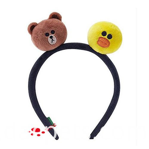 bear and duck two heads hairband