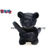 Уникальный подарок для дизайнера Черный плюшевый мишка в длинной руке Bos1121