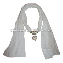 PK17ST291 Jewelry decorative knitted scarf