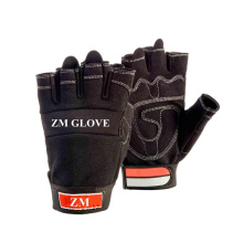 Membrane Liner Gloves Synthetic Leather Fingerless Glove for Postman Use