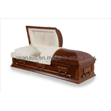 US Style Solid Oak Wood Casket (5050039)