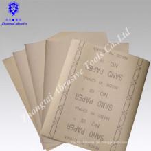 Umweltfreundliches Sandpapier für Holzmöbelpolitur, Quarz, P46-240,