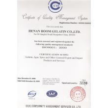 Iso certificated gelatin