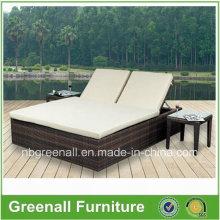 Современная напольная мебель для сада, двуспальная кровать