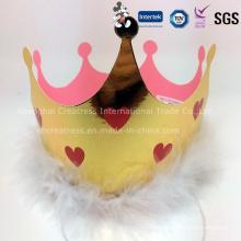 Sombrero de corona fiesta de cumpleaños de papel de estaño
