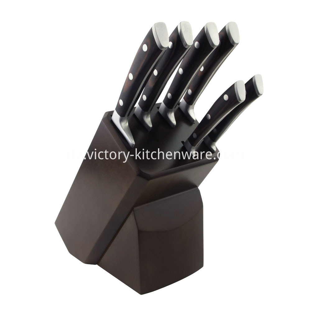 Kitchen Knife with Block Holder
