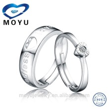925 sterling silver double heart couple rings meanningful jewerly set