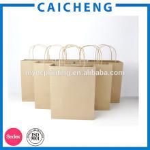 Kundenspezifisches Brown-Kraftpapier-Verpacken-Papiertüten mit Fenster