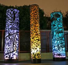 Stainless Steel 304 Material Metal Matte Large Metal Garden Light Sculpture