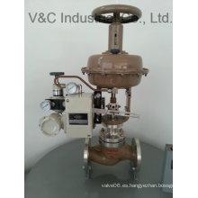 Válvula de globo de control con bridas de actuador eléctrico con ISO y CE Cetification