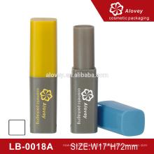 Duas cores bálsamo de lábio bonito simples bálsamo lábio promocional recipiente
