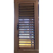 Fenêtre à persiennes en aluminium Fenêtre en poudre Poudre-Manteau Clorful