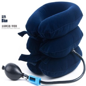 Medical air cervical inflatable neck traction devices