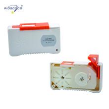 Tipo de cassette del limpiador del conector de fibra óptica PGCLEB1 para limpiar el conector de fibra 500 veces el tiempo de vida