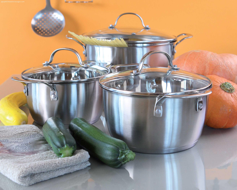 6pcs Concial shape cookware set