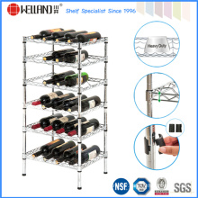 High Quality Adjustable 4 Bottle Flat Metal Wine Rack