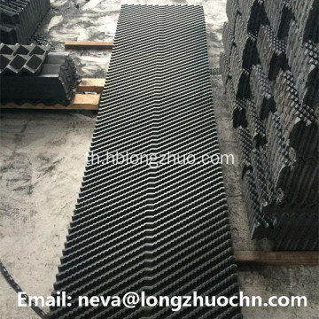 PVC Cooling Tower แข็งเติม Cross-Fluted Cooling Tower สื่อ
