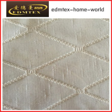 Moda bordada organza cortina tecido EDM2042
