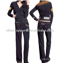 Fashion sports velour tracksuits