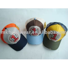 5 panel printing applique mesh cap