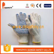 Algodón natural con poliéster String Knit Gloves con Logo Dkp157