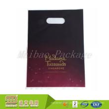 Kundenspezifischer Entwurf druckte HDPE Ldpe Heavy Duty Heißsiegel-Plastiktasche, die Flecken-Griff-Taschen trägt