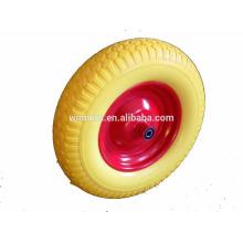 Venda quente 16 polegada pu roda de espuma para carrinho de mão