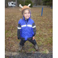 Polyester Children Rain Jacket with Reflective