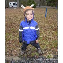Полиэстер дети дождь куртка со светоотражающими