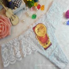 OEM оптовая продажа Китай горячие продажи сексуальные стринги удобные белые кружева без следов т-обратно эластичные модные трусы 002